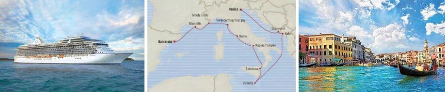 Круиз «Средиземноморье и Адриатика: из Венецию в Барселону» лайнер Riviera