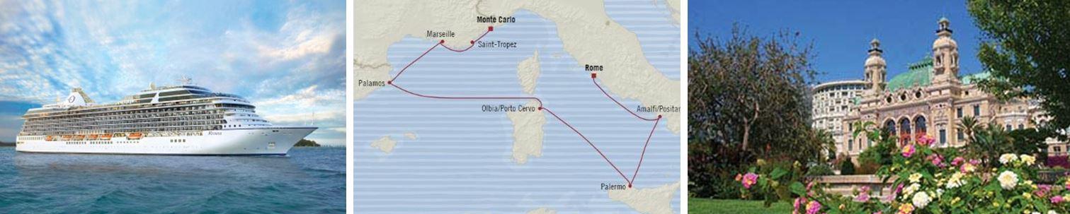 Средиземное море: Монте-Карло - Рим