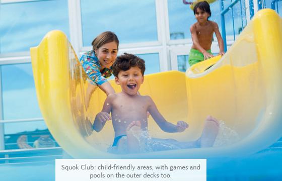 Развлечения для детей на лайнерах Costa Cruises