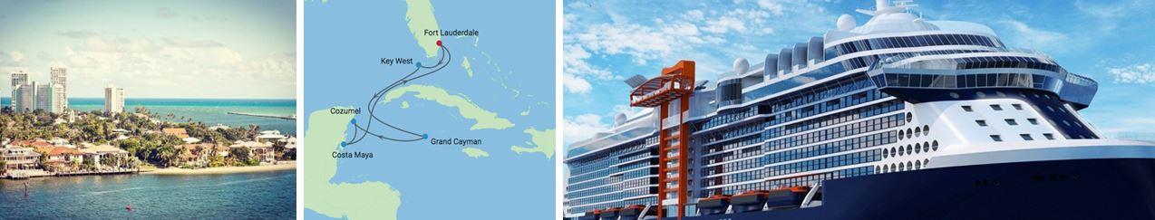 круизный лайнер Celebrity Edge отправляется Форт-Лодердейл на Карибы