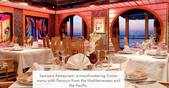 Ресторан Самсара на круизном лайнере Costa