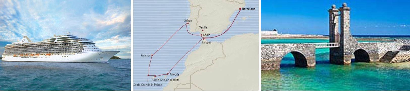 Атлантический океан и Канарские острова из Барселоны
