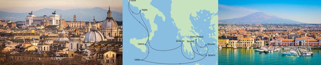 Амальфитанское побережье и Греческие острова из Рима в круизе на  лайнере Celebrity Edge
