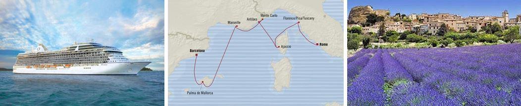 Западное Средиземноморье: из Барселоны в Рим лайнер Riviera