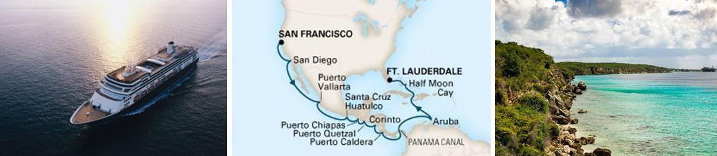 круиз на лайнере Volendam из Сан-Франциско в Форт-Лодердейл