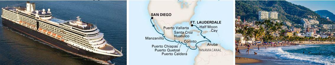 круиз из Сан-Диего в Форт-Лодердейл на лайнере NIEUW AMSTERDAM