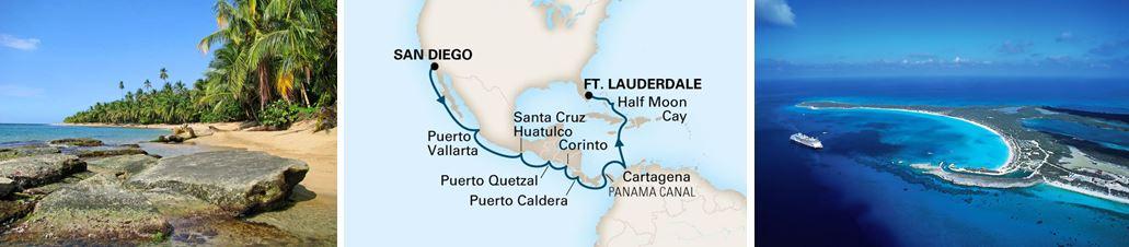 круиз через Панамский канал на лайнере NIEUW AMSTERDAM
