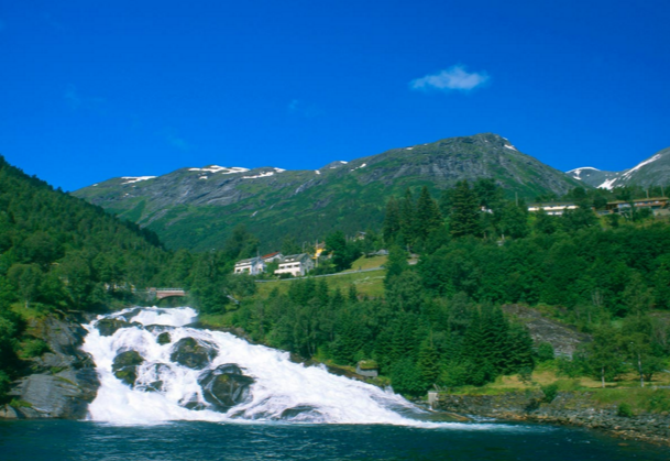 Водоспад в Норвегии