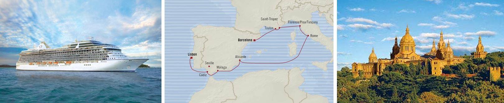 Западное Средиземноморье из Барселоны в Лиссабон