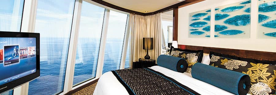 Каюта The Haven на лайнере Norwegian Epic